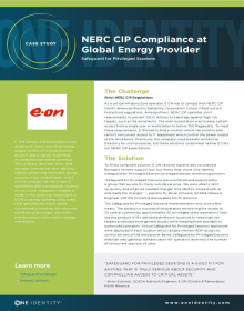 Global Energy Provider achieves NERC CIP Compliance with privileged session management