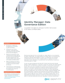 Identity Manager Data Governance