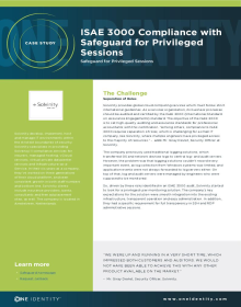 ISAE 3000 Compliance with Safeguard for Privileged Sessions