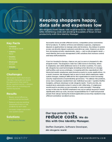 Keeping shoppers happy, data safe and expenses low with Identity Manager