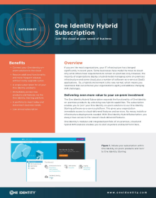 One Identity Hybrid Subscription
