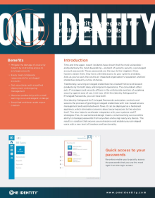 One Identity Safeguard for Privileged Passwords
