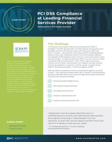 PCI DSS Compliance at Leading Financial Services Provider