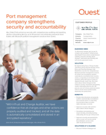 Port management company strengthens security and accountability