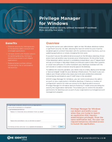 Privilege Manager for Windows