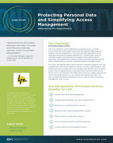 Protecting Personal Data and Simplifying Access Management