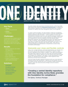 State consolidates agencies into one simplified and flexible identity solution