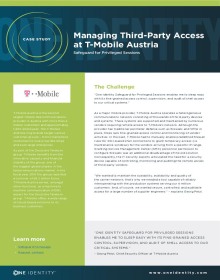 T-Mobile Austria Manages Third-Party Privileged Access with Safeguard for Privileged Sessions