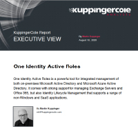 KuppingerCole Executive View Report on Active Roles