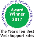 Top Support Website - Two Years running