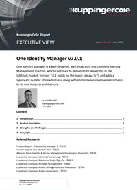 KuppingerCole Executive View on Identity Manager v7
