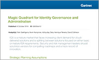 Gartner 2019 Magic Quadrant for Identity Governance and Administration