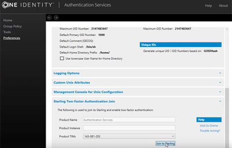 Features for Authentication Services