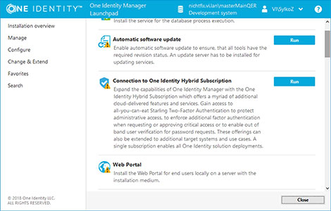 Features for Identity Manager