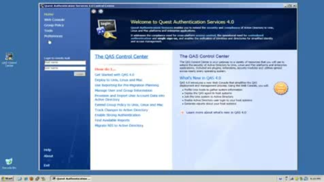 Authentication Services - Group Policy Management