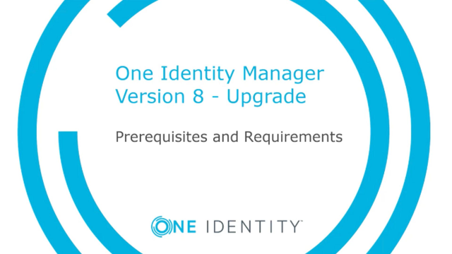 Identity Manager 8 upgrades and best practices