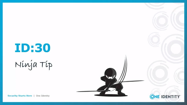 Ninja Tip: Cloud and Container Tips for IAM