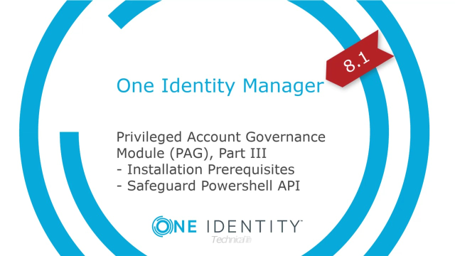 One Identity Manager | Privileged Account Governance #9 | Installation Prerequisites