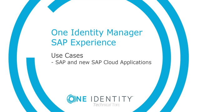 One Identity Manager SAP Experience #10 SAP and the new SAP Cloud Applications