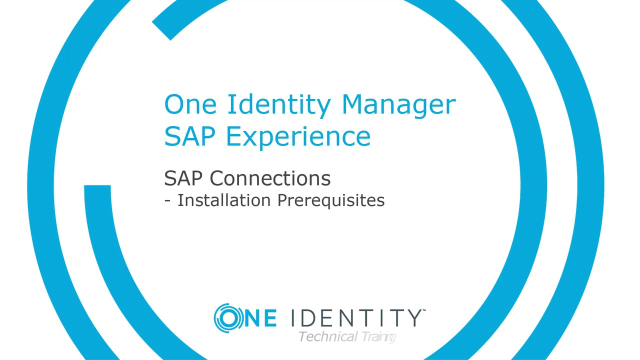 One Identity Manager SAP Experience #11 Installation Prerequisites and SAP Transports
