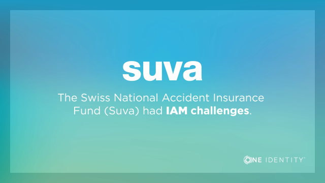 See why Swiss insurance/health-care provider chose One Identity IAM solutions