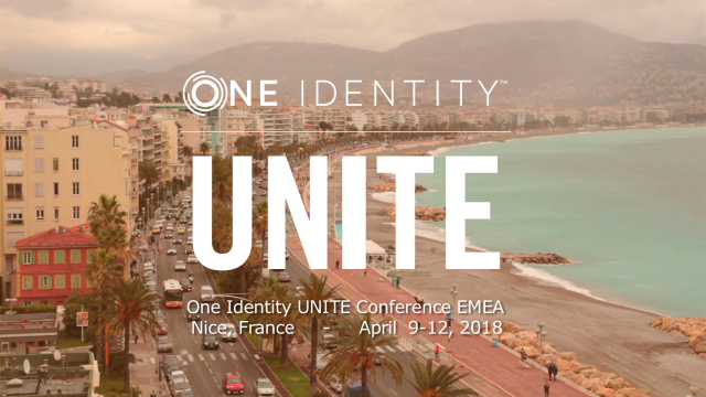UNITE User and Partner Conference- Nice, France, April 2018
